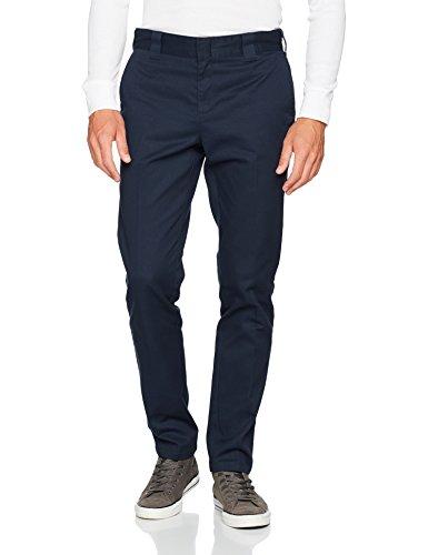Dickies Herren Hose Slim Fit Work, Blau (Dark Navy Dn), W33/L34 (Kleidung Blau Planeten)