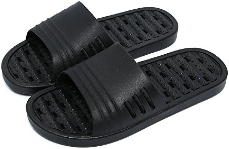 fankou Cuarto de Baño Zapatillas Antideslizante en Baño de Agua Chica Verano Estancia Parejas Zapatillas de Baño...