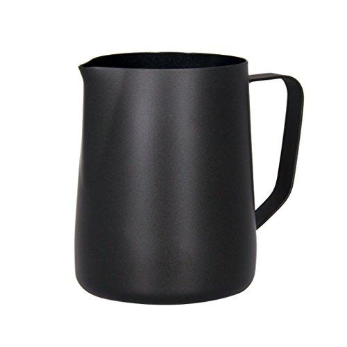 Sipliv 20 oz (600 ml) de acero inoxidable espresso jarras humeantes leche espuma jarra crema macchiato capuchino latte art making jarra tazas espuma jarra - negro