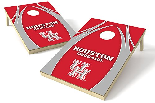 ston Cougar 2x 3Platinum College V Logo Holz Heckklappe Toss, 61x 91,4cm Multi (Bean Bag Toss Target)