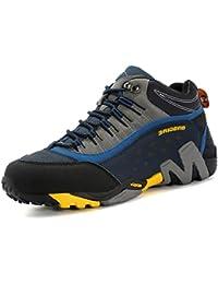 GNEDIAE Zapatillas de senderismo Hombre Mujer Big Size Leather Lace-ups Trail Camping Sneaker para Outdoor Walking Travel Zapatos Botas de Trabajo 35-46