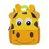 GWELL Tier Babyrucksack Wasserdicht Kindergartenrucksack Schultasche Kinder Mädchen Jungen giraffe