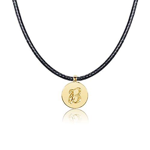 Collana con Ciondolo Oro e Diamanti Oro Giallo 9kt 375-Lettere dell' alfabeto per Lei e Lui-Cordone Lunghezza regolabile Clicca su MILLE AMORI blu e scopri tutte le nostre collezioni