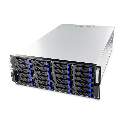 """FANTEC SRC-4240X07 19"""" 4HE 680mm Storage Gehäuse (24x SAS/SATA Einschübe mit je 2 Status LEDs, Einschübe für 3,5"""" und 2,5"""" Datenträger, USB 2.0 Anschluss, 2x 80mm Lüfter)"""
