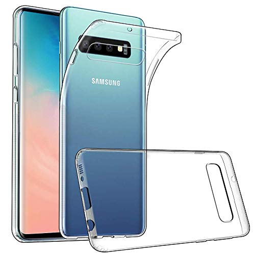 wsky Handy Hülle für Samsung Galaxy S10, Crystal Clear Dünn Schutzhülle, Kratzfest Durchsichtige Case Cover, Hohe Zähigkeit Soft TPU Silikon Hülle, Weich Transparent Handyhülle für Samsung Galaxy S10 Klare Schutzhülle