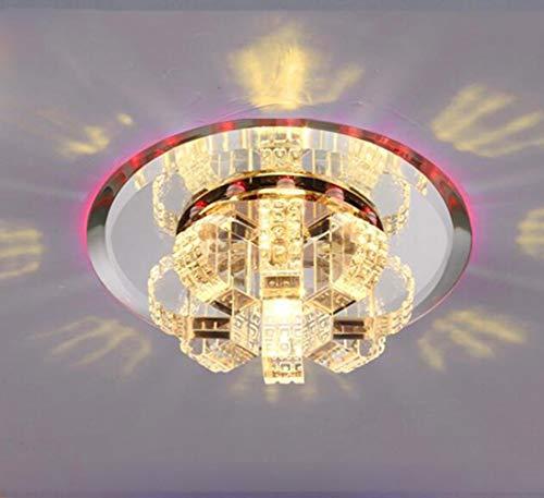 FuweiEncore LED 220V 5W Runde Led Kristall Gang Wohnzimmer Dekoration Flur Porch Beleuchtung/MiniSpotlights Decke Downlights Pot 180 * 60mm, Blu-ray (Farbe : Red Light, Größe : -)