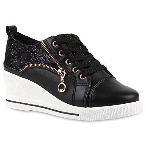 Bild von Stiefelparadies Damen Sneaker Wedges Übergrößen Flandell