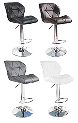 HNNHOME Modern Uranus Padded Swivel Leather Breakfast Kitchen Bar Stools Pub Barstools