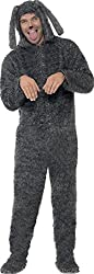 Adults Animals Fancy Party Fluffy Dog Costume Mens Complete Dress Grey from Smiffys