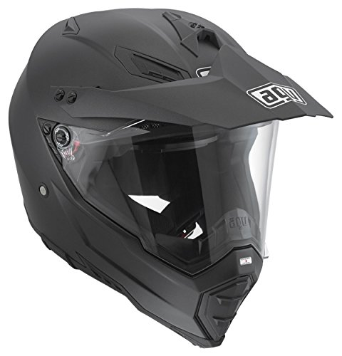 AGV Casco Helmets integrales AX-8 Dual Evo E05 Solid, color Noir (Matt