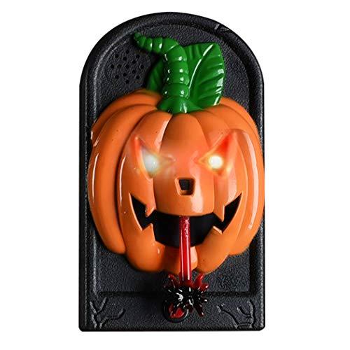 Kapmore Halloween Türklingel Funny Scary Door Ring Türklopfer Mit Licht and Sound