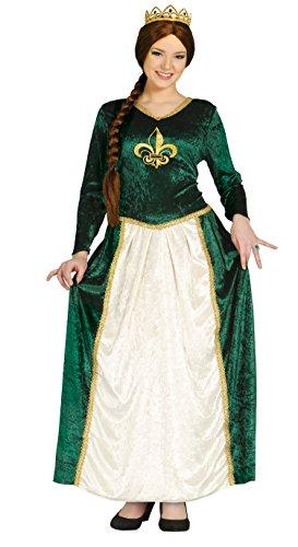 grünes Prinzessin Burgfräulein Karneval Fasching Kostüm für