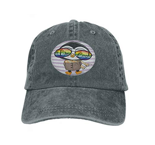 Unisex Jeans Baseball Cap Classic Cotton Dad Hat Adjustable Plain Cap cool Cartoon Cute Penguin Sun Glasses Cute Penguin Sun Glass Carbon