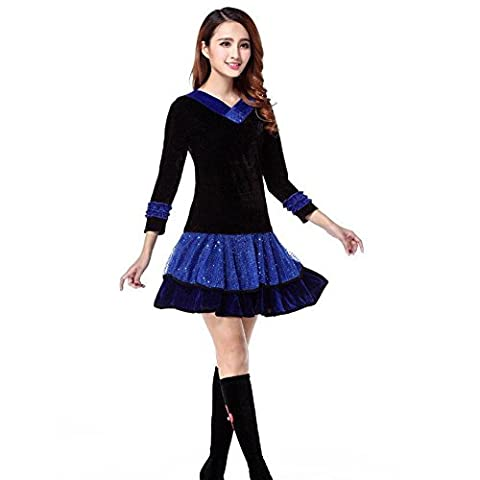 Costumes Ballroom Dancer Halloween - Wgwioo Women Latin Square Dance Ballroom Costume