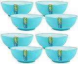 Ciotole piccole set da giardino per barbecue da tavola picnic campeggio plastica ciotole dessert ciotole stoviglie stoviglie piatti ciotole gelato ciotole Fruit Bowl-Ciotola, blu Blue - Set of 8