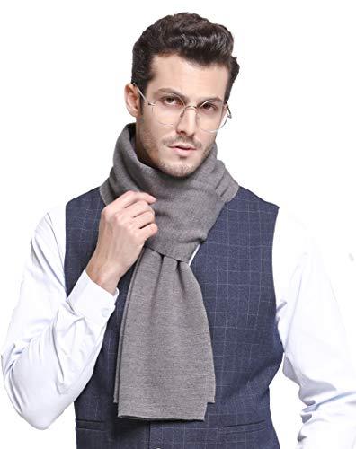 RIONA Australian Merino Wolle Herren Strick Schal Winter Business Langschal Weiches Warmes Kaschmir Fühlen mit Geschenkbox