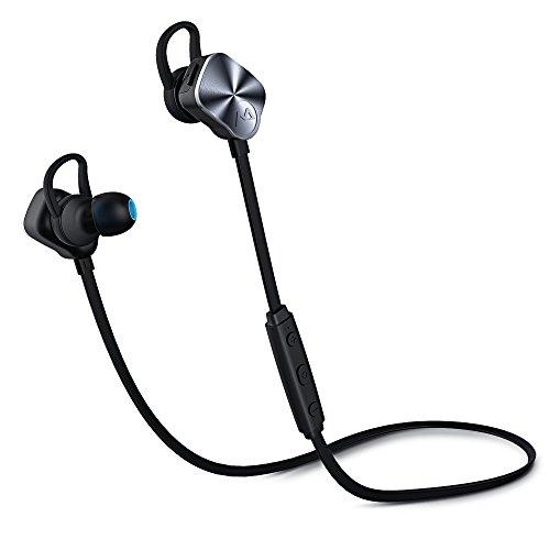 Mpow Wolverine Casque de Sport Bluetooth 4.1 Écouteurs Intra-Auriculaires Sans Fil CVC6.0 Antibruit Micro intégré 175 Heures en Veille pour iPhone, Android et Autres Appareils Bluetooth-Argent