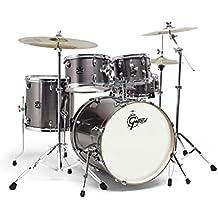 Gretsch energia 50,8cm kit tamburo in acciaio grigio con hardware & Paiste 101set di piatti