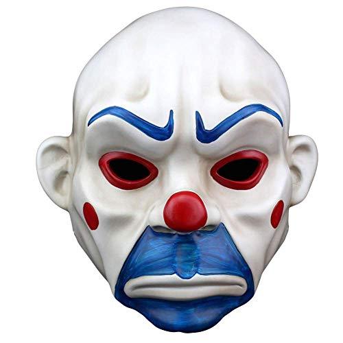 Kostüm Joker Bankräuber - XBYUK Resin Crafts Mask Halloween Batman Clown Räuber Maske