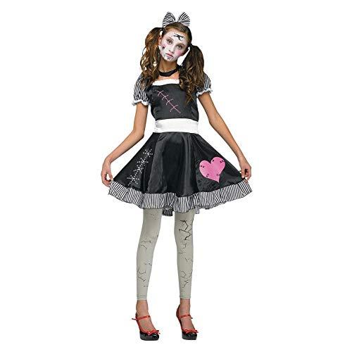 Doll Broken Kinder Kostüm - Fun World Teenager's Broken Doll Costume, Junior Size 0-9