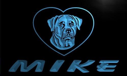 vf105-b Mike's Rottweiler Dog House Home Pet Neon Sign Barlicht Neonlicht Lichtwerbung -