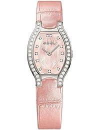 Ebel Women's Pink Leather Band Steel Case Swiss Quartz MOP Dial Watch 1216255