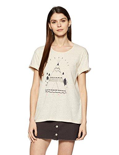 Roxy Mädchen Rundhals-Shirt für Boyfriend, Beige (Metro Heather), Gr. L (Heather Beige Stoff)