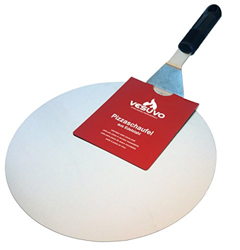 Vesuvo Pelle à Pizza en Acier Inoxydable–Diamètre 30cm–Haute qualité–Acier inoxydable Métal de qualité.