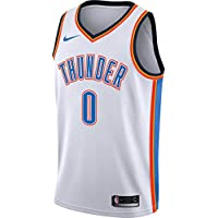 Nike NBA Oklahoma City Thunder Russell Westbrook 0 2017 2018 Association Edition Jersey Official, Camiseta