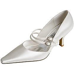 Perfect Bridal Olivia, Damen Brautschuhe , weiß - elfenbeinfarben - Größe: 40