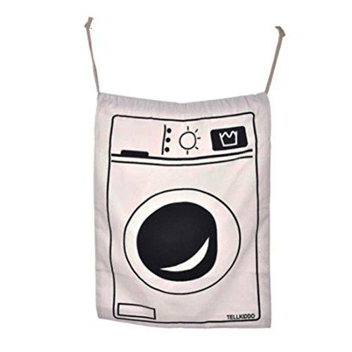 JJOnlinestore-bag con un bonito lienzo para guardar juguetes; Bolsa con cordón para lavandería, almacenamiento grande, viajes, juguetes; Bolsas organizadoras para colgar, 1x Lavadora