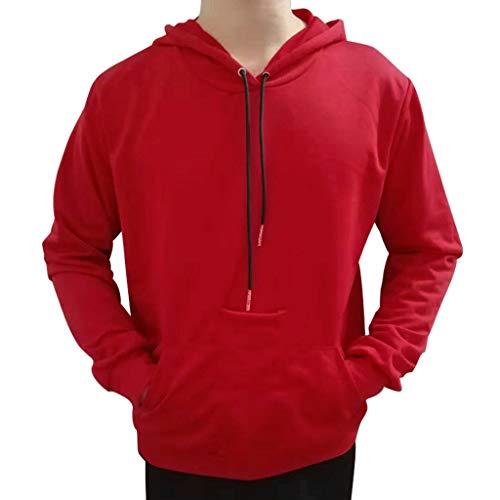 a45e198a18 Xmiral Herren Hoodie Tops Herbst Winter Lässig Reine Farbe Patchwork  Kordelzug Sweatshirt Mit.