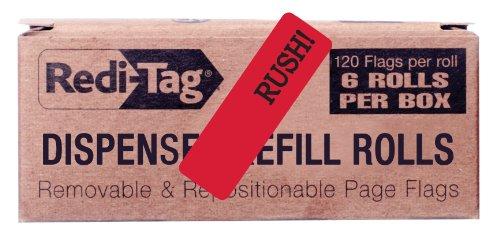 Redi-Tag Witness bedruckte Pfeilfahnen Rush rot