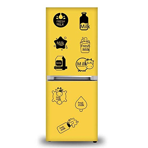 Mobile Kreative Wand Befestigt Mit Dekorativer Wand-Fenster-Dekorations-Milch-Kuh-Druck-Niedlichen Kreativen Wand-Aufklebern Für Kühlschrank - Trocken-milch-bad
