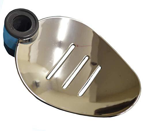 Rail Support-adapter (Silber Badezimmer Dusche Schiene verchromtem Seifenschale Halter 18oder 25mm Riser Dusche Bad, plastik, Chrome 18mm)