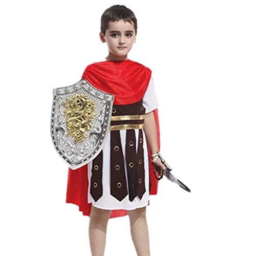 GUAN Halloween Kinderkostüme Samurai Ritter Krieger Kleidung Kindersoldat Kostüme (Weibliche Krieger Kostüm Zubehör)
