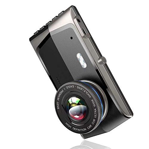 Monland 4 Zoll IPS Presse Bildschirm Doppel Objektiv Auto Dash Cam Fhd 1920X1080P Auto Armaturen Brett Kamera 170 Grad Weit Winkel Fahr Kamera Recorder Mit H.264, Wdr, Nachtsicht, G-Sensor
