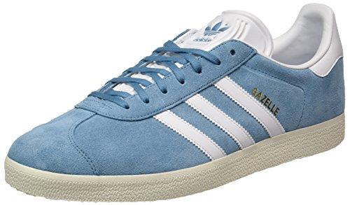 Adidas Gazelle, Zapatillas Para Correr Para Hombre Gris (acero Táctil / Calzado Blanco / Dorado Metálico)