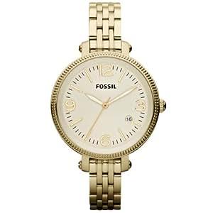 Fossil Damen-Armbanduhr XS Analog Quarz Edelstahl beschichtet ES3181