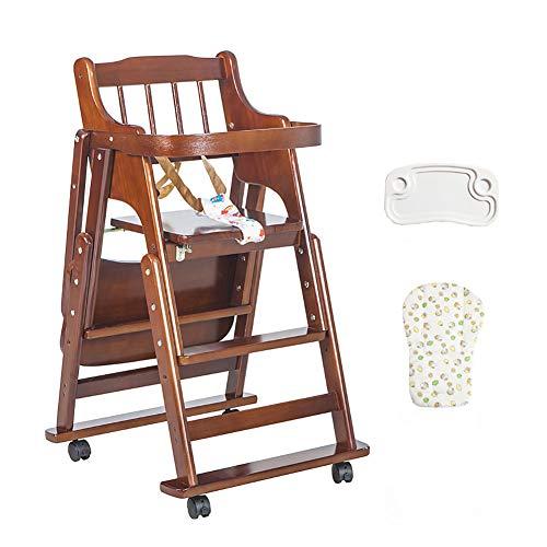 Seggioloni per bambini in legno sedia per bambini pieghevole per bambini seggiolini per bambini con anello di guardia, colore opzionale