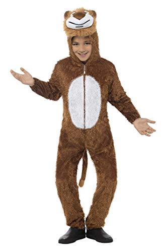 Smiffys Jungle Lion Kids Fancy Dress Animal Book Week Zoo Boys Girls Childrens Costume (Party Animal Fancy Dress Kostüm)