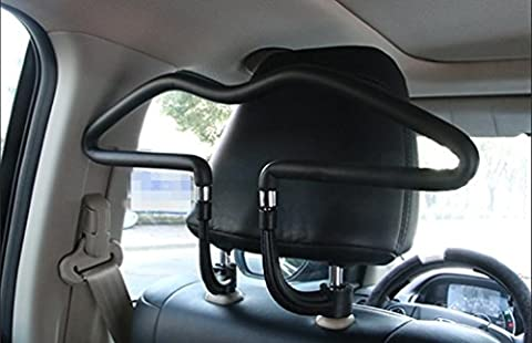 Dbtxwd Car hanger Stainless steel Sturdy Non-slip Car Suit hangers black 45*25*2cm