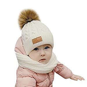 Huhu833 Niedliches Kleinkind Kinder Hut Mädchen Jungen Baby Winter Warm Crochet Strickmütze Beanie Cap