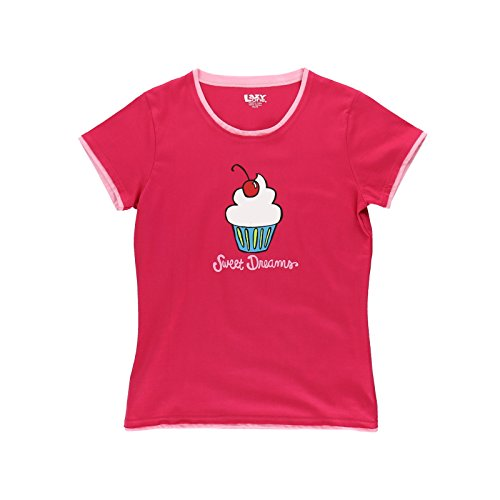 LazyOne Damen Sweet Dreams Fitted Pyjama T Shirt Large (T-shirt Cupcake Fitted)