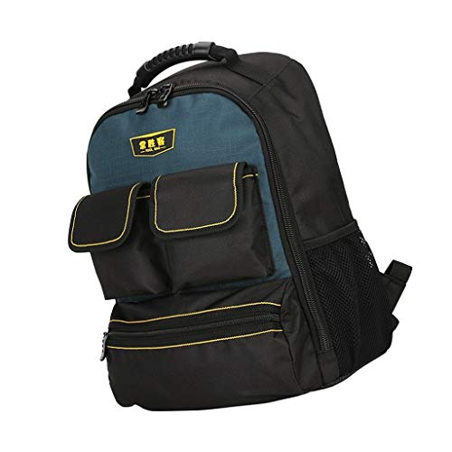 KESOTO Premium Werkzeugkoffer Rucksack Werkzeugtasche Transporttasche mit Reißverschluss, einfach Werkzeug zu Transportieren