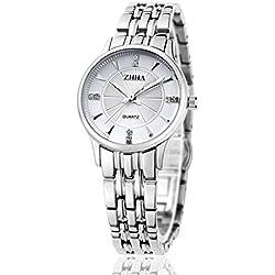 ZHHA Women's 004 Quartz Silver Stainless Steel Bracelet Waterproof Watch