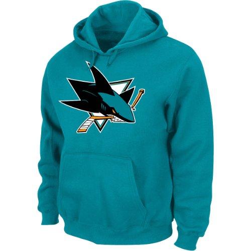 NHL Kaputzenpullover/Hoody/Hoodie SAN JOSE SHARKS teal Logo in LARGE (L) hooded Sweater