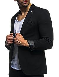 LEIF NELSON Herren Sakko Blazer Sportlich Slim Fit Modern Schwarz Blau Anthraztit