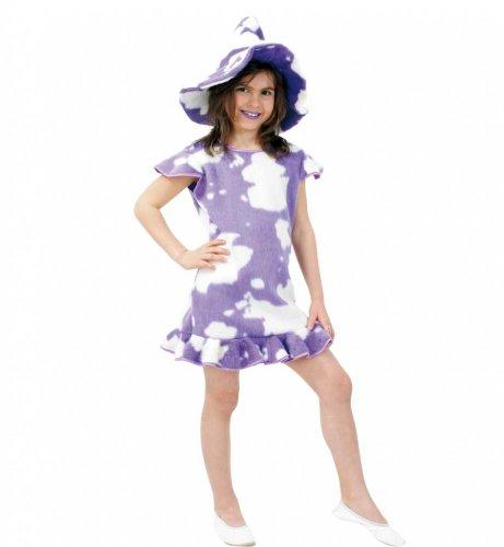 Kleid Leni Tierkostüm Plüsch Kuhflecken lila