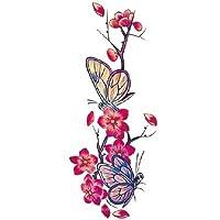 Inkwear Blossom & Butterflies Large Tattoo *Premium Quality Die Cut Transfer*